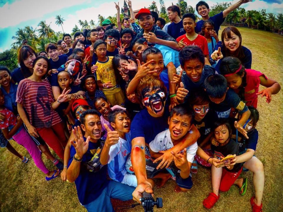 インドネシアバリ島のボランティアツアーに参加した写真でgoproで写真を撮ってある