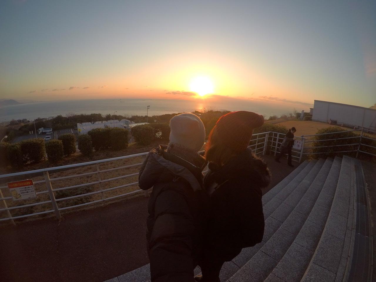 淡路島一周の時に見た朝日は格別でした