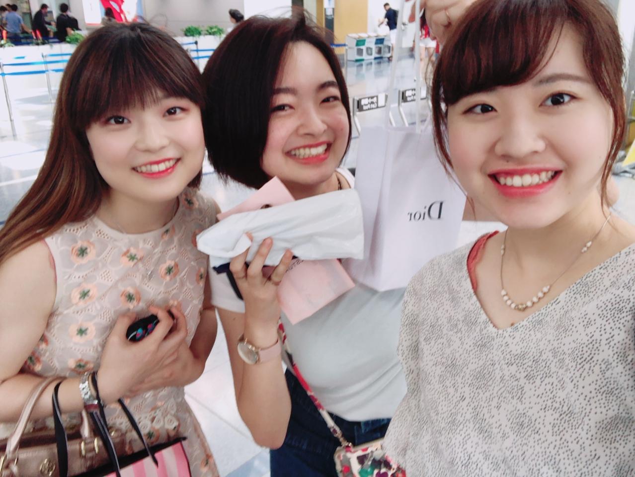 日本を出国する日、空港まで迎えに来てくれた友達