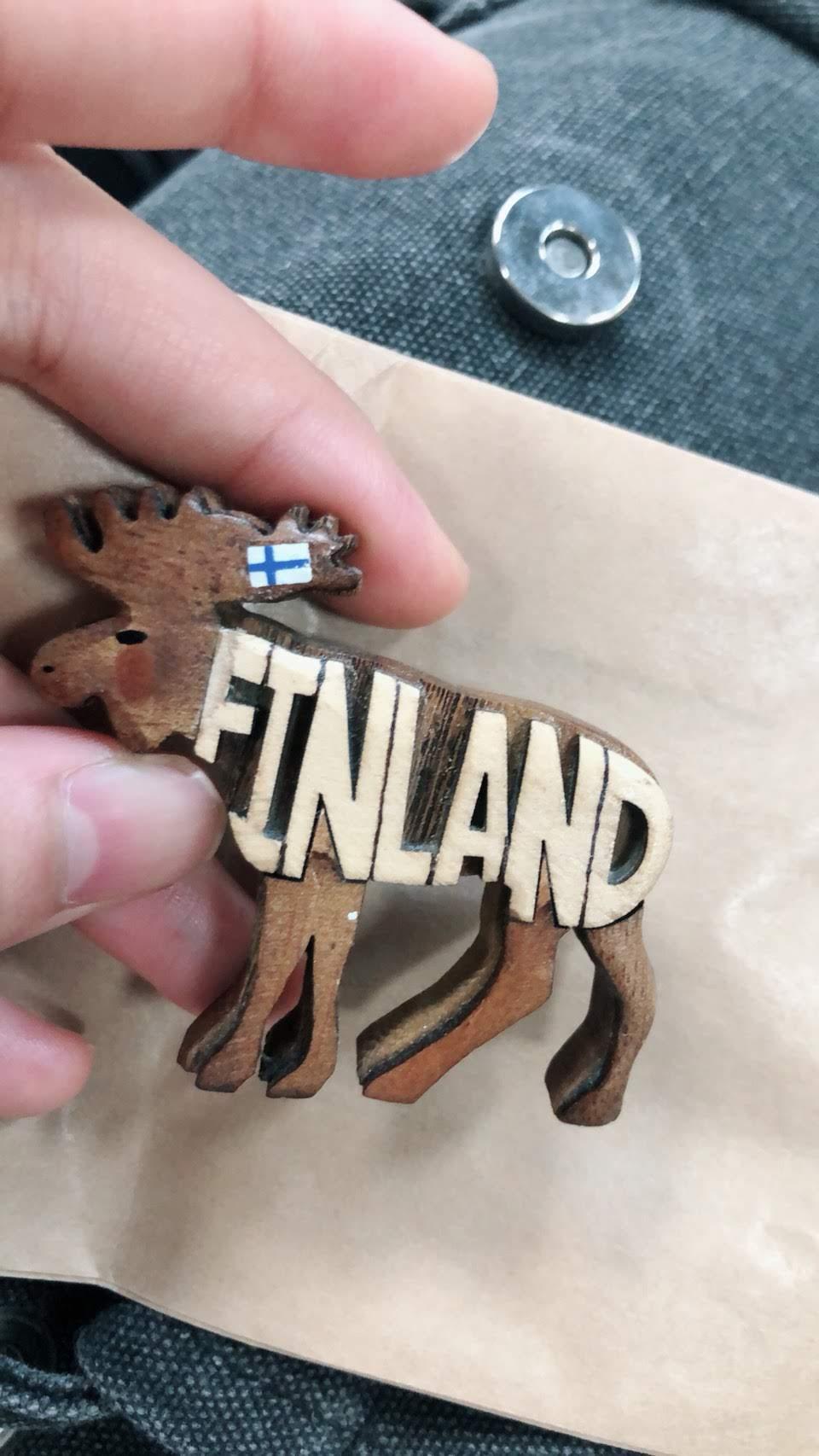 フィンランドで買ったかわいいトナカイのマグネット