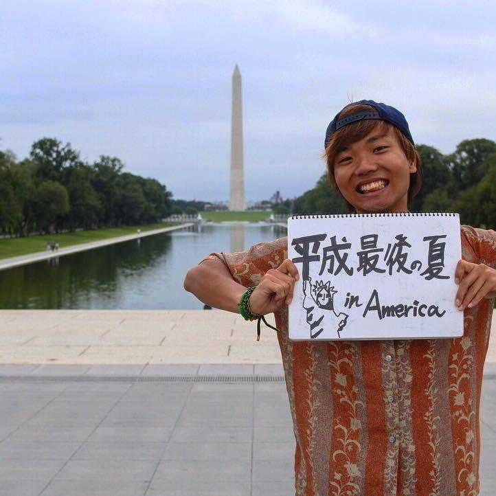 アメリカ横断中 ワシントンに行った写真