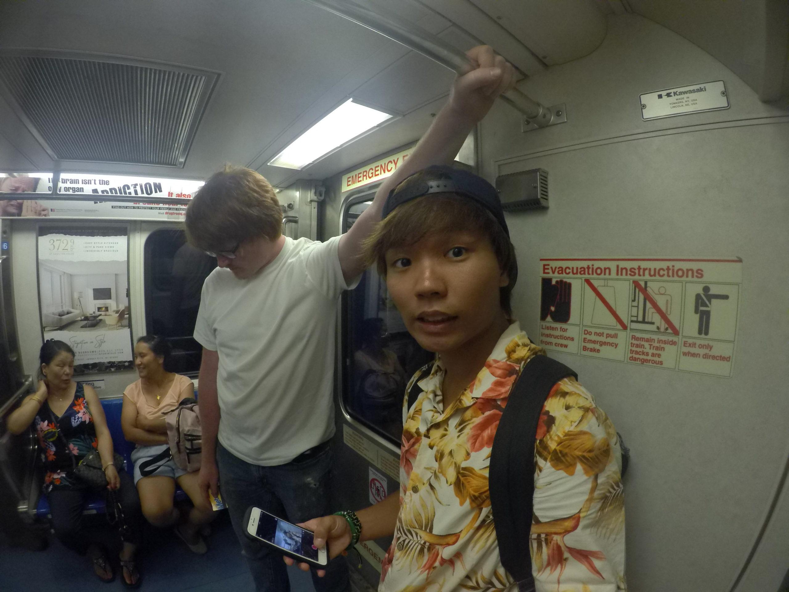 アメリカ横断中に電車に乗ってNYに行った写真