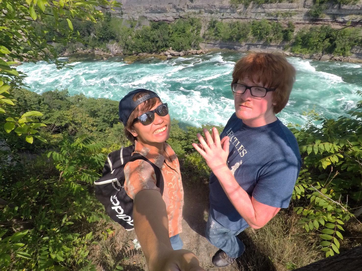 アメリカ横断中にナイアガラの滝に行った写真