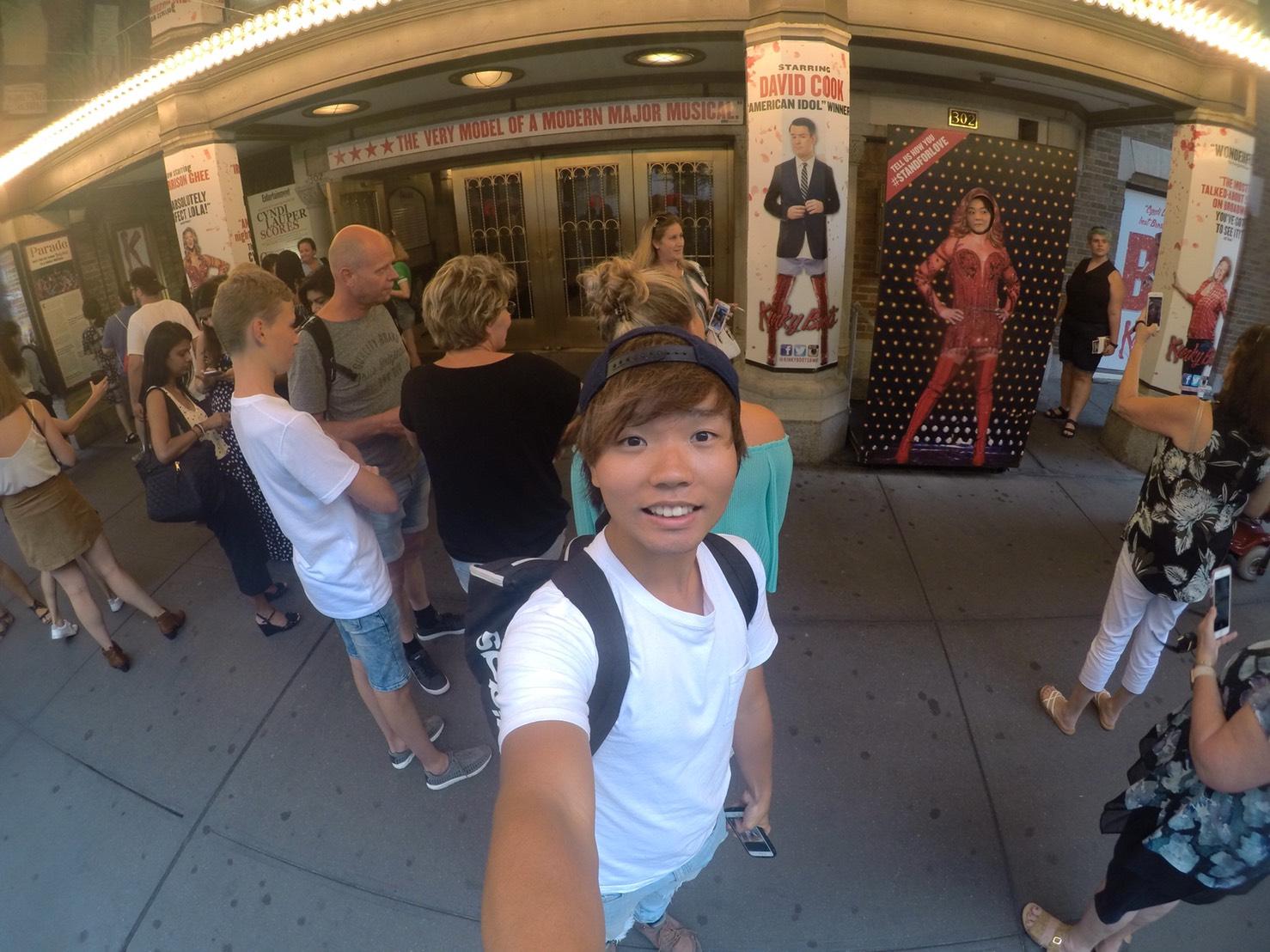 アメリカ横断中にNYに行った写真 ブロードウェイミュージカル