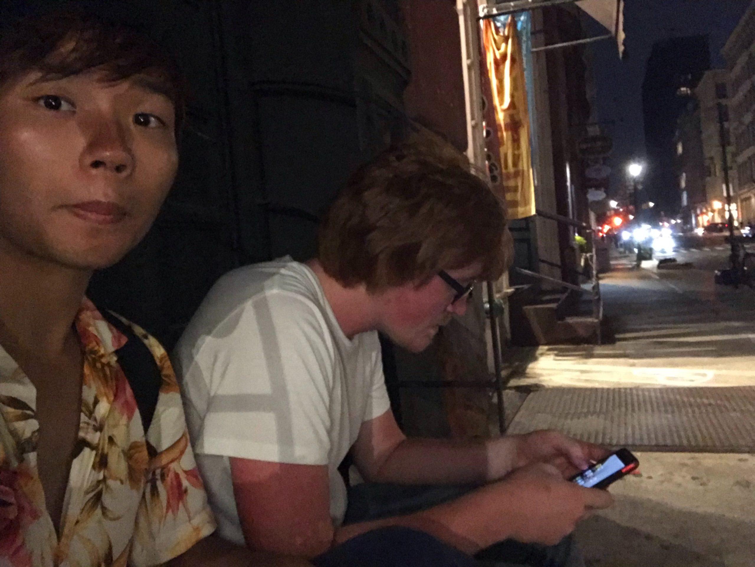 アメリカ横断した話、NYの夜の街を歩いた写真