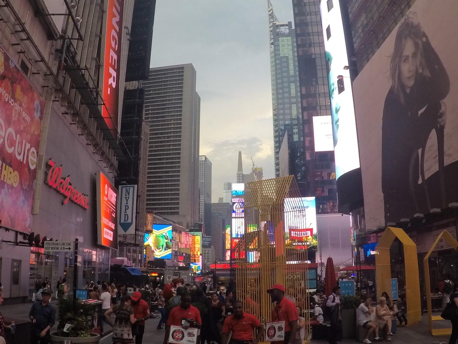 アメリカ横断中にNYに行った写真 タイムズスクエア