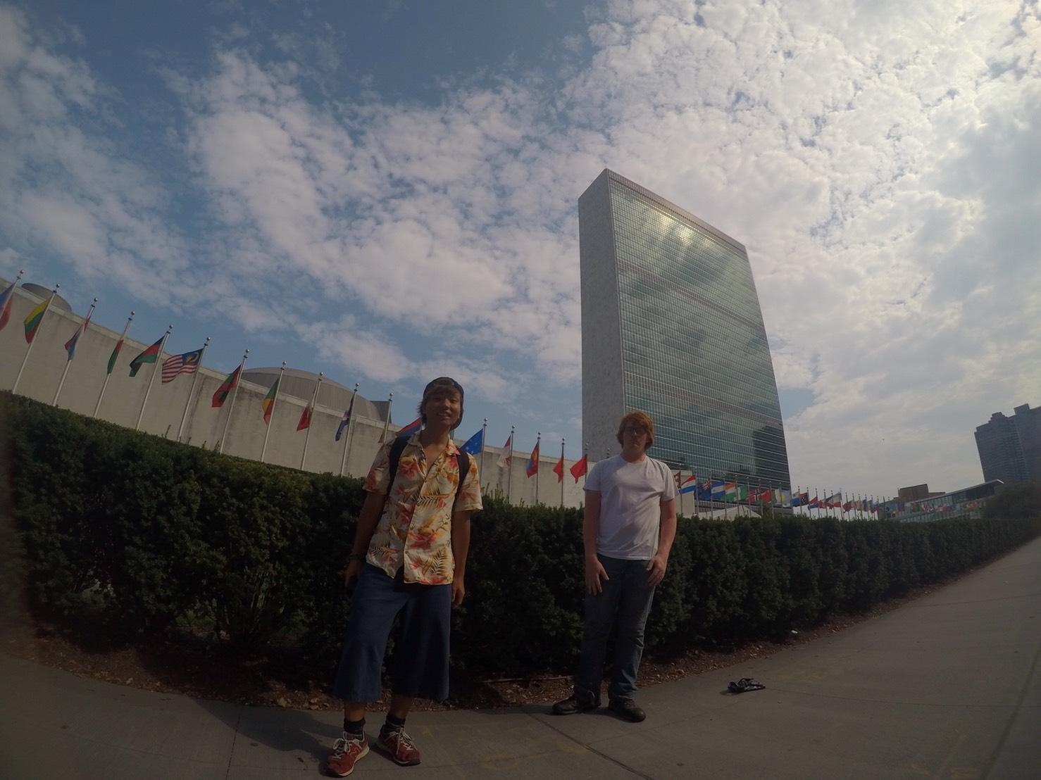 アメリカ横断中にNYに行った写真 国連