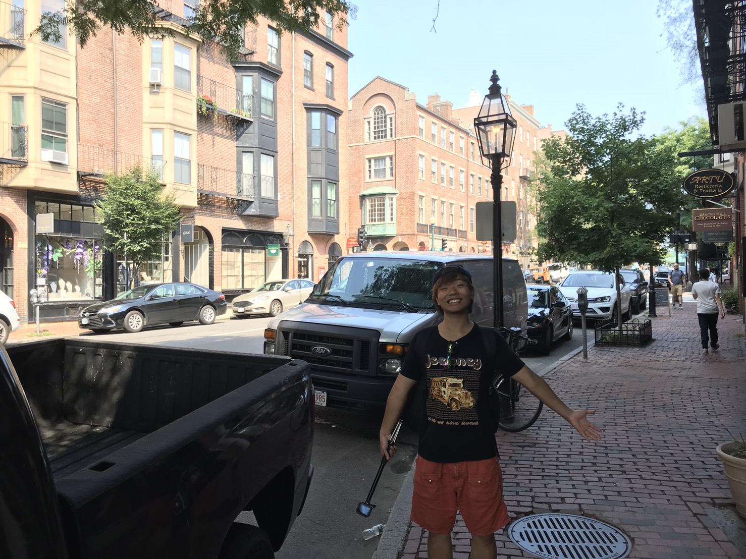 アメリカ横断中にボストンの町に行った写真