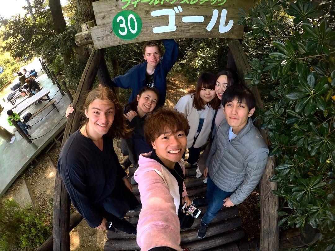 留学生と遊びに行った写真