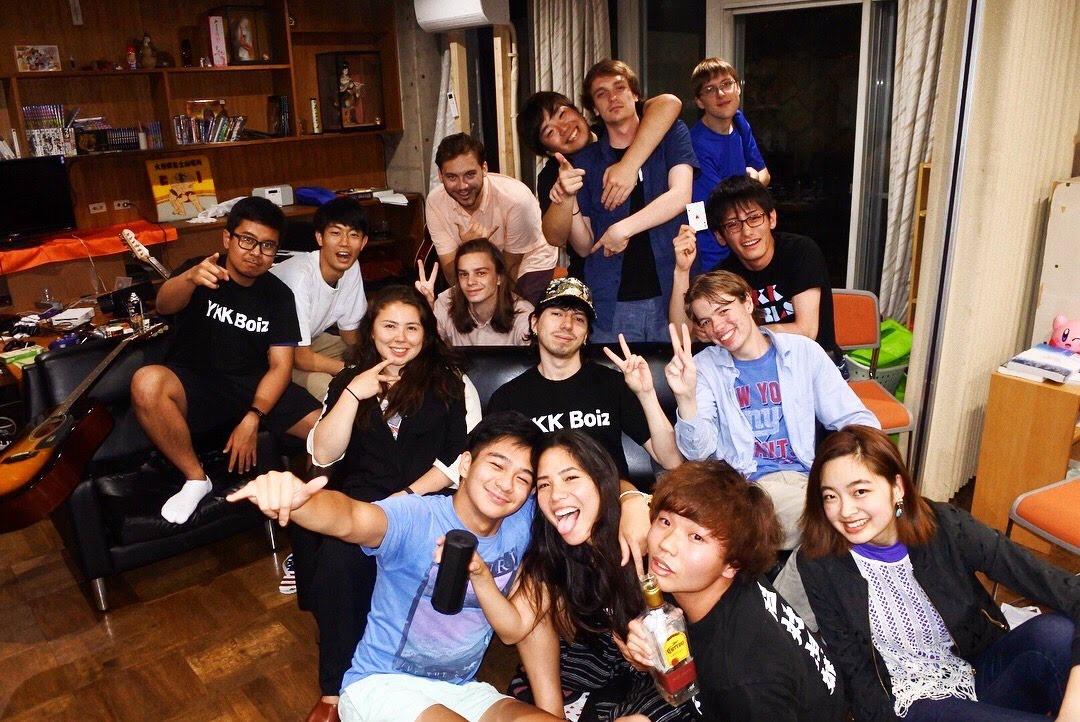 留学生とシェアハウスをしていた写真