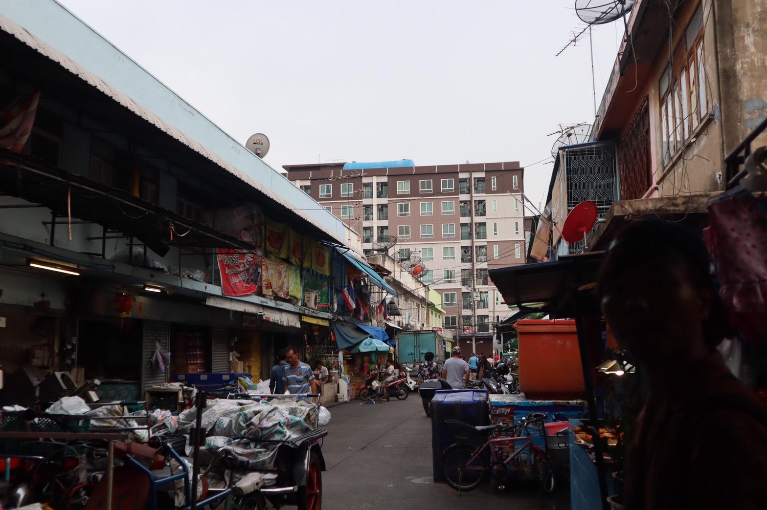 朝市のバンコクに行った写真
